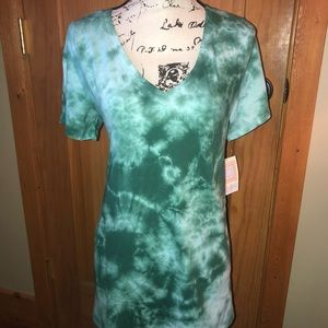 UNICORN! NWT L LLR Green Tie Dye Christy T